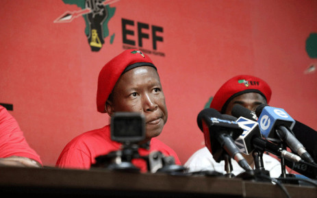 EFF leader Julius Malema addresses the media in Johannesburg on 10 April 2019. Picture :Kayleen Morgan/EWN.