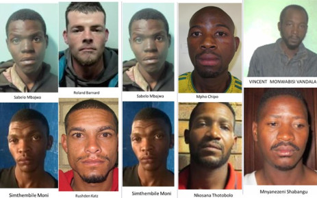 Some of the 20 awaiting trial prisoners who escaped while being transported to the Johannesburg Prison on 22 August 2017. Picture: SAPS