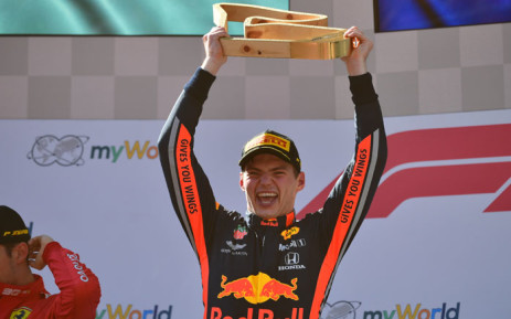 FILE: Red Bull Racing's Dutch driver Max Verstappen celebrates on the podium after the Austrian Formula One Grand Prix in Spielberg on 30 June 2019. Picture: AFP