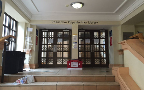 The UCT library closed and lectures suspended to resume on Monday. Picture: Natalie Malgas/EWN.