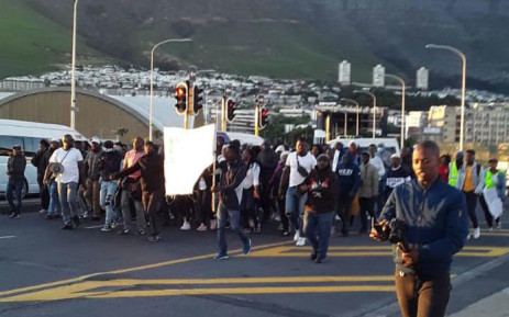A group of people march to the Cape Town Civic Centre on 19 November 2020. Picture: Supplied