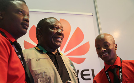Deputy President Cyril Ramaphosa during a tour of the business exhibition at the ANC's National General Council in Midrand on 11 October 2015. Picture: Reinart Toerien/EWN