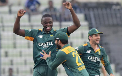Proteas fast bowler Kagiso Rabada (L). Picture: Cricket South Africa @OfficialCSA.