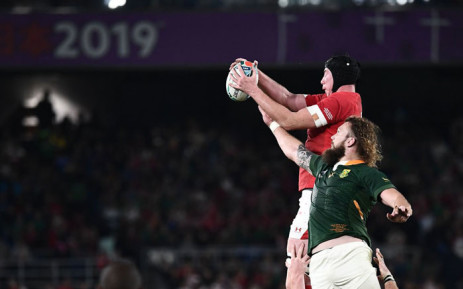 South Africa beat Wales' during their 2019 Rugby World Cup semifinal match in Yokohama, Japan on 27 October 2019. Picture: @rugbyworldcup/Twitter