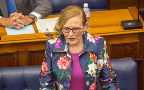 Western Cape Premier Helen Zille is set to deliver her last State of the Province Address in the legislature on 15 February. Picture: @WCProvParl/Twitter.