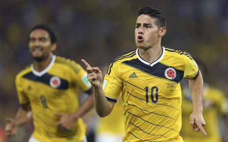 Colombian attacking midfielder James Rodriguez celebrate his goal against Uruguay on 29 June 2014. Picture: Facebook.