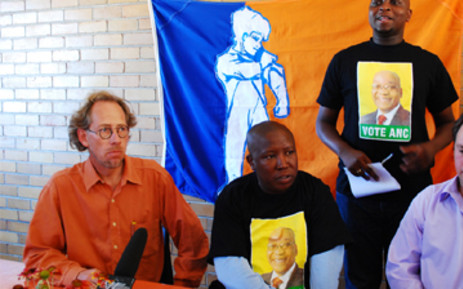 Orania Movement president Carel Boshoff met with former ANC Youth League president Julius Malema in Orania on 28 March, 2009. Picture: EWN.