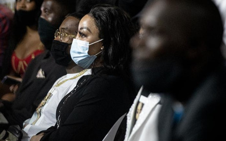 Media personality and Mshoza's close friend Khanyi Mbau attended her memorial on 25 November, 2020. Picture: Xanderleigh Dookey/EWN.