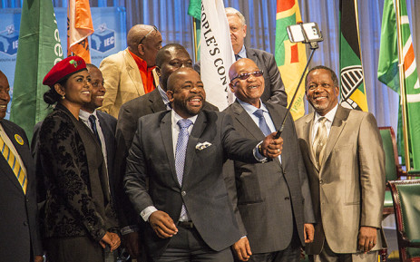 FILE: Party representatives of SA's thirteen political parties represented in Parliament gather to take a selfie after they signed their pledges to abide by the IEC's code of conduct during the 2016 local government elections. Picture: EWN
