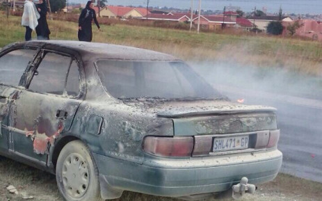 Suspected kidnapping in Azaadville where a grandfather allegedly kidnapped his grandson and set the car alight on 8 April 2015. Picture: EWN.