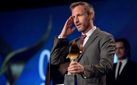 "LOS ANGELES, CA - FEBRUARY 01: Writer Spike Jonze accepts the ""Best Original Screenplay"" award for ""Her"" onstage at the 2014 Writers Guild Awards L.A. Ceremony at J.W. Marriott at L.A. Live on February 1, 2014 in Los Angeles, California. Picture: AFP."
