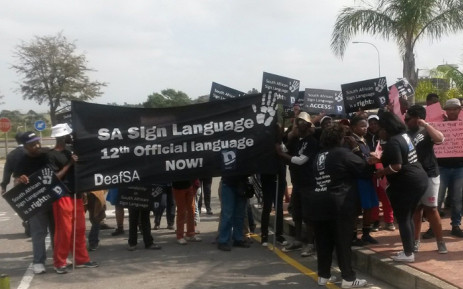 DeafSA leads 'Solidarity in Sign Language' march to the Legislature. Picture: Twitter/@eclegislature.