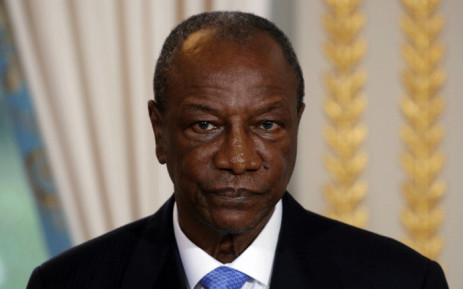 FILE: Guinea's President Alpha Conde at the Elysee Palace in Paris on 22 November 2017. Picture: AFP.