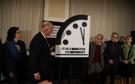 The 2019 Doomsday Clock announcement in Washington on 24 January 2019. Picture: thebulletin.org