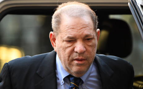 In this file photo taken on 24 January 2020 Harvey Weinstein arrives at the Manhattan Criminal Court for his rape and sexual assault trial in New York City. Picture: AFP