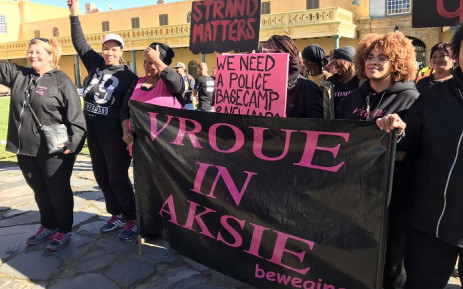 A group called Moms Move for Justice marched to Parliament on Thursday 1 August 2019, calling for an end to gang violence in many Cape Town communities. Picture: Kevin Brandt/EWN