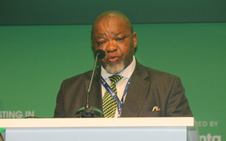 Mineral Resources and Energy Minister Gwede Mantashe speaks at the 2020 Mining Indaba held at the CTICC in Cape Town on 3 February 2020. Picture: @GwedeMantashe1/Twitter