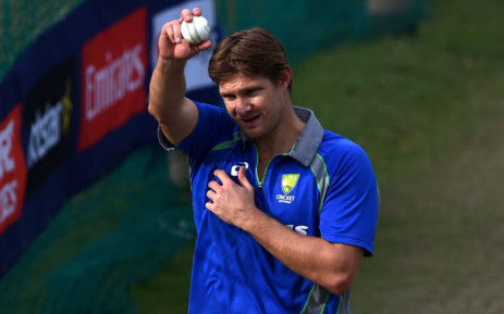 Australias Shane Watson holds a ball as he participates in a training session at The Punjab Cricket Stadium Association Stadium in Mohali on 24 March 2016, ahead of their World T20 Cricket tournament match against Pakistan on 25 March. Australian all-rounder Shane Watson announced that he would retire from international cricket after the ongoing World Twenty20 in India, bringing to an end a sterling career spanning 14 years. Picture: AFP/ MONEY SHARMA