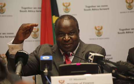Finance Minister, Tito Mboweni briefs the media ahead of the Medium Term Budget Policy Statement. Picture: Cindy Archillies/EWN
