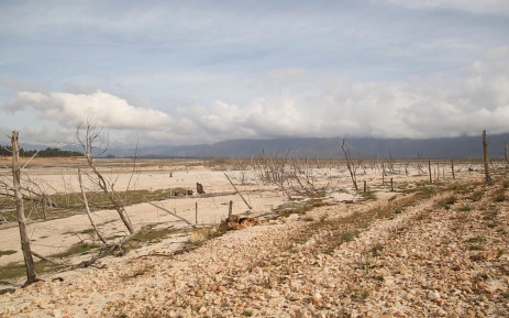 This picture shows the banks of the Theewaterskloof Dam as the Western Cape is gripped by drought. Picture: Bertram Malgas/EWN