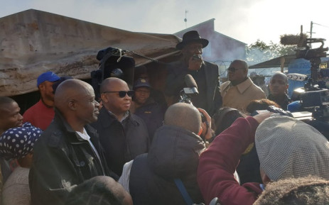 Police Minister Bheki Cele addresses Western Cape on a walkabout in Philippi East. Picture: SAPS.