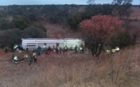 A bus crash on the N1 South, 20km south of Polokwane on 21 September 2018. Picture: @Netcare911_sa/Twitter