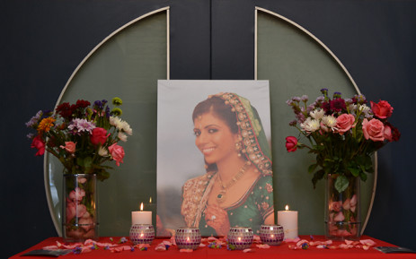 A portrait of Anni Dewani is displayed during a November 2011 vigil held in Cape Town to mark a year since the newlywed's murder. Picture: Aletta Gardner/EWN.