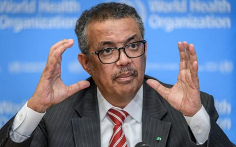 FILE: World Health Organization Director-General Tedros Adhanom Ghebreyesus. Picture: AFP