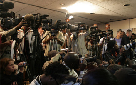 FILE: Journalists at a press conference. Picture: EWN.