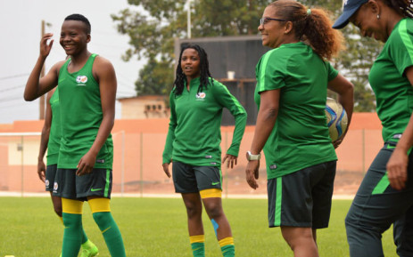 FILE: Desiree Ellis (with the ball) during a Banyana Banyana training session. Picture: Twitter