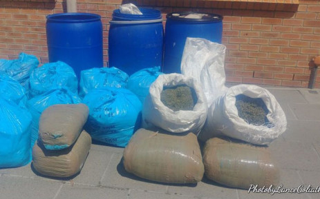 FILE: Bags of dagga seized by police in Cape Town. Picture: SAPS.