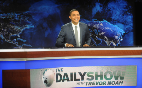 "Trevor Noah hosts Comedy Central's ""The Daily Show with Trevor Noah"" in New York City. Picture: AFP."
