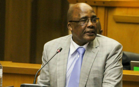 Home Affairs Minister Aaron Motsoaledi tables his departments budget vote in Parliament on 11 July 2019. Picture: @HomeAffairsSA/Twitter