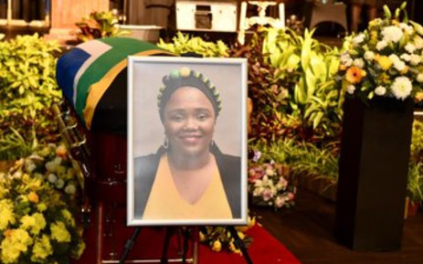 Funeral service for the late deputy mineral resources minister Bavelile Hlongwa. Picture: GCIS Twitter.