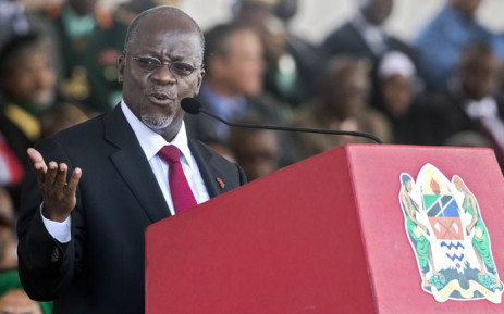 Tanzania's newly elected president John Magufuli delivers a speech during the swearing in ceremony in Dar es Salaam in November 2015. Picture: AFP