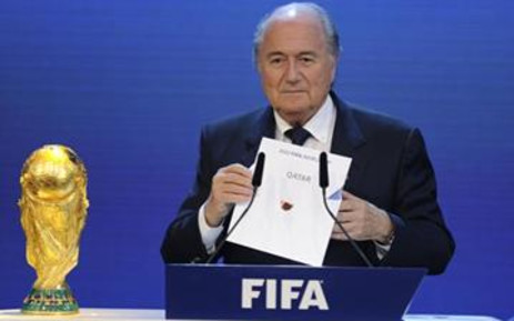 FIFA President Sepp Blatter announcing the decision to give Qatar the 2022 World Cup. Picture: AFP