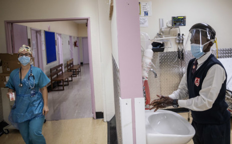 FILE: Inside the Charlotte Maxeke Academic Hospital in Johannesburg in April 2020. Picture: AFP