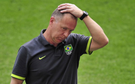 Brazil's soccer coach Mano Menezes. Picture: AFP.