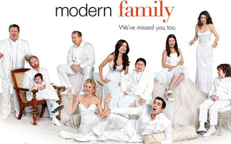 The full cast of the ABC series, Modern Family. Picture: thetvaddict.com