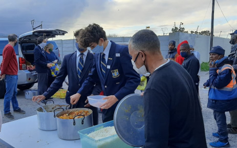 Grade 11 pupils at Rondebosch Boys' High School have decided to donate the money they would have spent on their 2021 matric ball to a local soup kitchen in the Western Cape, which feeds the underprivileged in these tough times of the COVID-19 pandemic. Picture: Supplied.