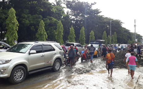 Flash floods in Indonesia's easternmost province of Papua. Picture: Twitter.