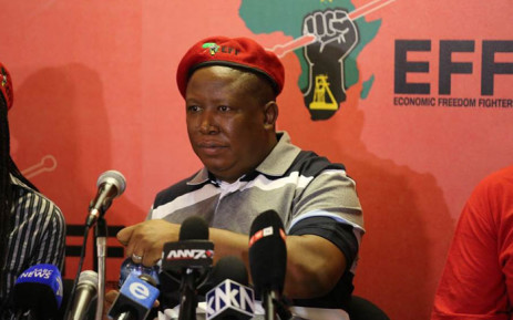 EFF leader Julius Malema speaks at a press conference on 2 December 2015. Picture: Christa Eybers/EWN.