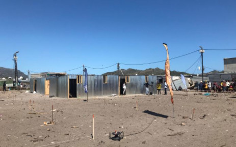 Temporary homes were erected on the weekend of 9 and 10 January 2021 after a fire destroyed more than 1,000 homes in Masiphumelele just days before Christmas 2020. Picture: Lizell Persens/Eyewitness News