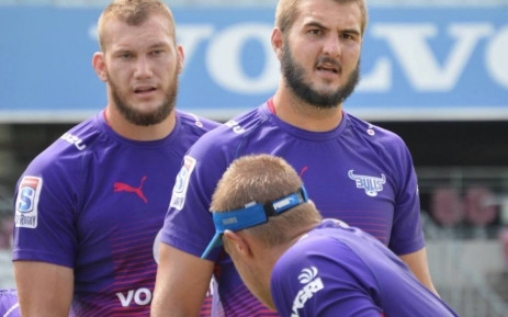 FILE: Bulls lock Lood de Jager (right). Picture: Twitter/@BlueBullsRugby