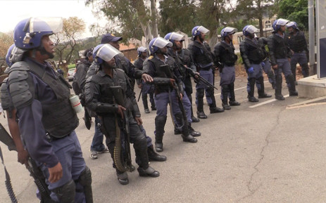 FILE: Police members at Wits university during student protests. Picture: Kgothatso Mogale/EWN.