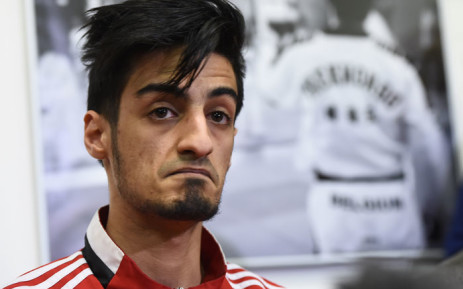 This file photo taken on 24 March 2016 shows Belgian Taekwondo athlete Mourad Laachraoui, younger brother of Brussels attacks suspect Najim Laachraoui, giving a press conference at the headquarters of the Francophone Belgian Taekwondo Association in Ukkel,Brussels. Picture: Emmanuel Dunand/AFP.