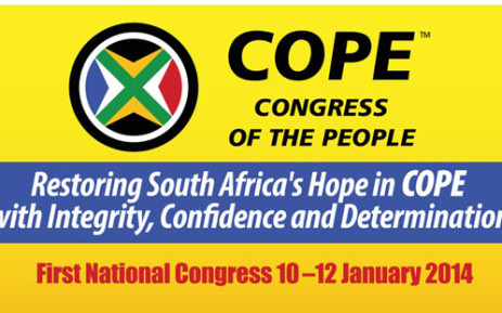 The Congress of the People refuted claims that it's broke during its national congress in Boksburg on 12 January 2014. Picture: www.congressofthepeople.org.za.