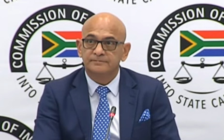 A screengrab of the former head of the State Security Agency's foreign branch Mo Shaik testifying at the state capture commission of inquiry in Johannesburg on 25 November 2019.