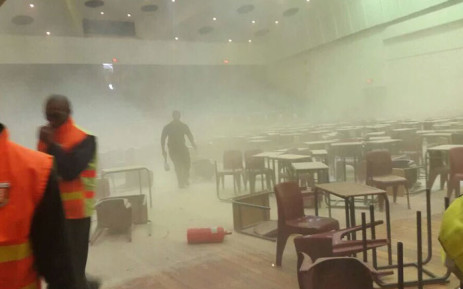 A UWC student shared this picture with Eyewitness News. Exams were scheduled to take place at 12:30pm on Wednesday 11 November, but was disrupted by demonstrators.