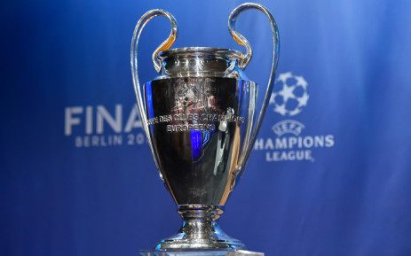 The UEFA Champions League trophy is displayed prior to the draw for the UEFA Champions League semi-final football matches at the UEFA headquarters in Nyon on 24 April, 2015. Picture: AFP.